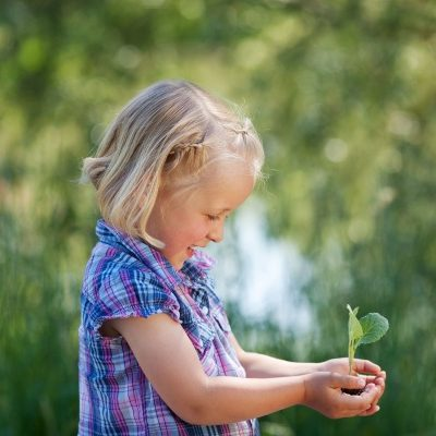 Child holding seedling resized